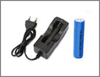 Pack chargeur 18650 et 1 accu Lithium-ion 2200 mAh 3,7 V