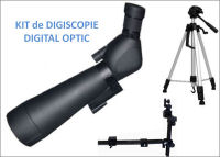 KIT de DIGISCOPIE DIGITAL OPTIC avec Longue- Vue 20-60x80