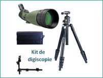 KIT Digiscopie DIGITAL OPTIC Longue vue 25-75x100 WP (trépied et adaptateur photo)