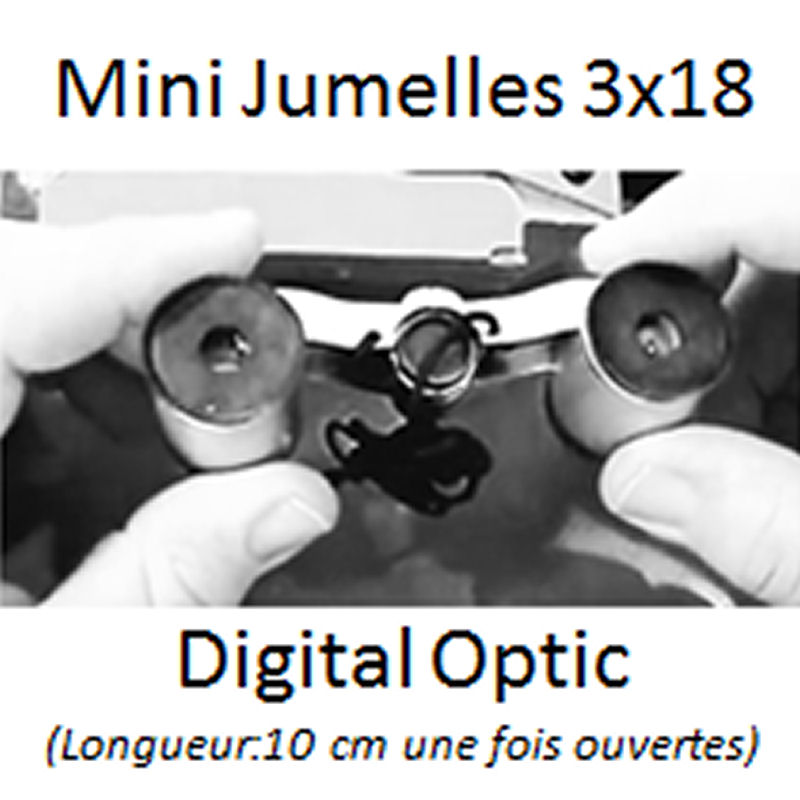 Jumelles de poche 3 x 18 DIGITAL OPTIC (lot de 2 paires)